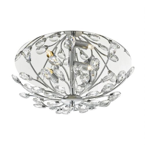 Zafir 3 Light Flush Polished Chrome Crystal (Class 2 Double Insulated) BXZAF5350-17